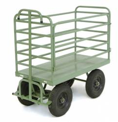 Carro Coletor de Lixo Tubular c/ 04 Abas 840L