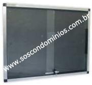 Quadro de Avisos c/ Moldura em Alumínio 80X60cm - QA8060