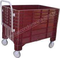 Carro Coletor de Lixo em Polipropileno 370 Litros - Cód. 3004