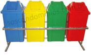 Conjunto para Coleta com 4 Cestos Quadrados de 60 litros - T16