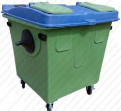 Container de Lixo Seletivo 1200 Litros - Cód. CT12