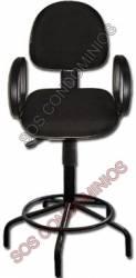 Cadeira para Portaria Caixa (Alta) Com Apoio de Braços - 9026b