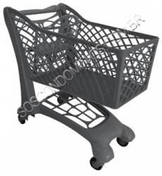 Carrinho de Compras de Plástico Ecológico 150L - S150
